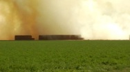 Stock Video Footage of Burning Farm Fields- Imperial Valley, CA 5