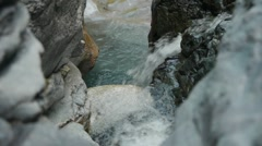 Clear waterfalls over smooth rocks - 1 Stock Footage