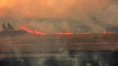 Burning Farm Fields- Imperial Valley, CA 1 Stock Footage