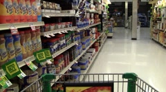 grocery store sales and sounds - stock footage