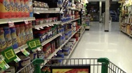 Grocery store sales and sounds Stock Footage