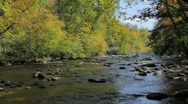 Mountain river, dolly left Stock Footage