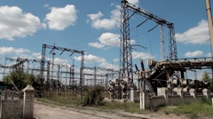 high voltage power transmission 05 - stock footage