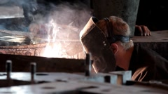 Welder working Stock Footage