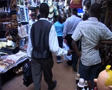 African Craft Market Tourists Shopping GFSD Stock Footage