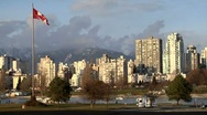 Vancouver skyline sunset - timelapse Stock Footage