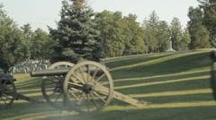 Stock Footage - Driving past Civil War Cemetery - Gettysburg Stock Footage