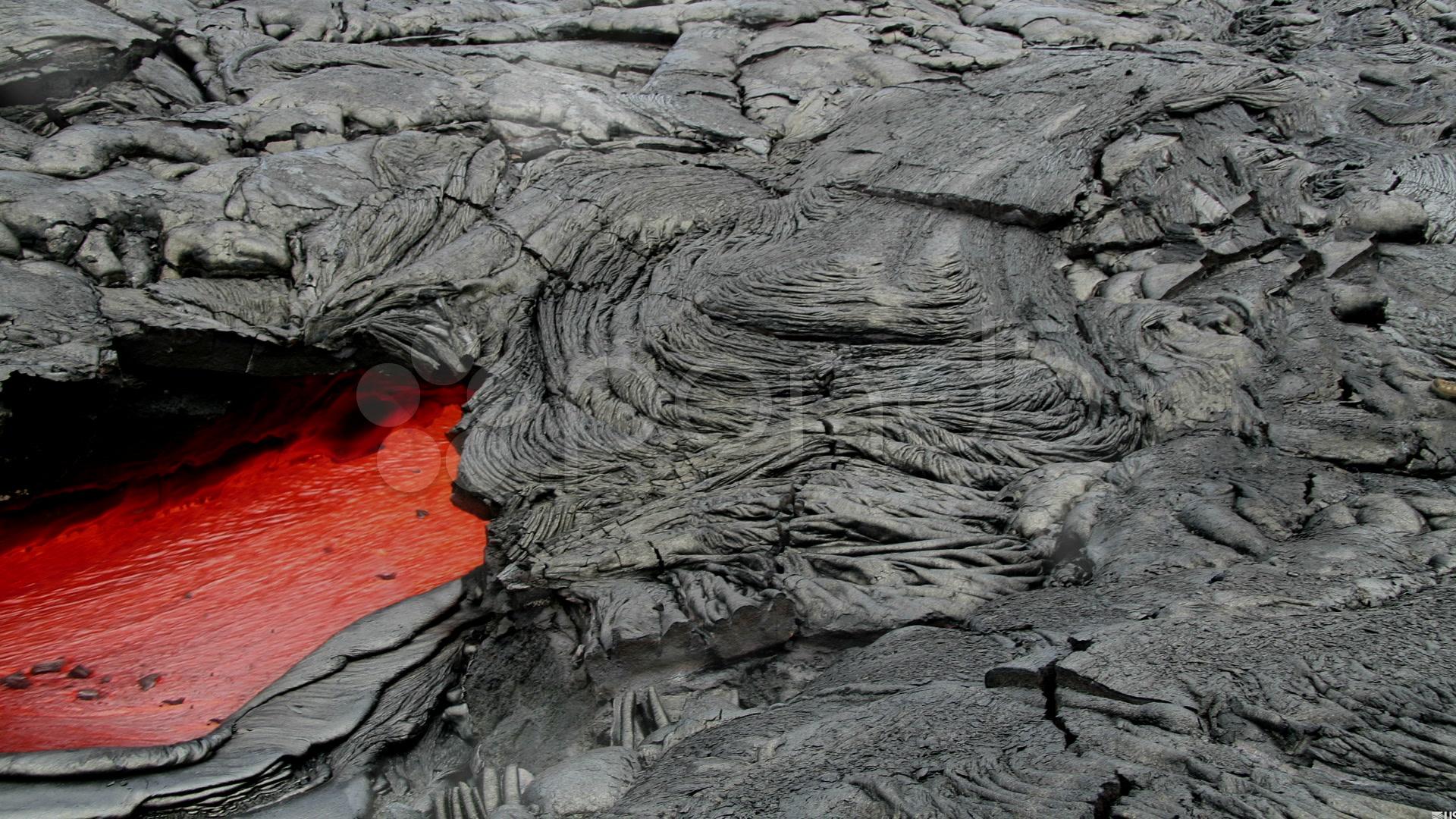 molten rock magmalava runs just below the surface of