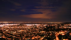 San Fran Nightscape 001 PJPEG 1920x1080 30fps - stock footage