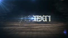 Diamond text intro HD Stock After Effects