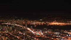 San Fran Nightscape 003 PJPEG 1920x1080 30fps - stock footage