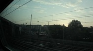 Landscape from the Train Stock Footage