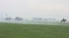 Stock Footage -  Huge amount of infantry and Cavalry on field - Smoke Stock Footage