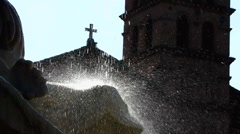 Rome Church Santa Maria in Cosmedin Stock Footage