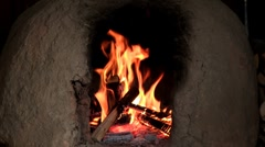 clay oven - stock footage