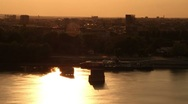 Sunset over River Stock Footage