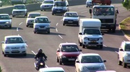 Stock Video Footage of traffic on busy highway