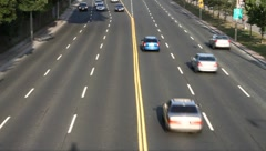 Cars moving in both directions Stock Footage