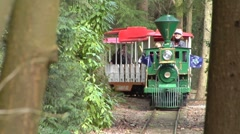 Stanley Park Miniature Train Stock Footage