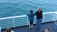 Ferry ride to Kodiak Island (HD) c Stock Footage