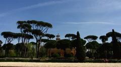 Rome park Villa Borghese Stock Footage