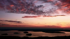 Sun Rise Cadillac Mountain, Mount Desert Island Time Lapse_01 Stock Footage