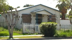 Derelict, Boarded Up House- Brawley, CA - stock footage