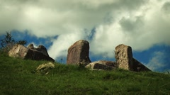 Ruined Ancient Stones timelapse Stock Footage