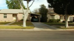 Residential Street Drive-by- Brawley, CA 1 - stock footage