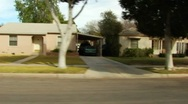 Residential Street Drive-by- Brawley, CA 1 Stock Footage