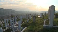 Graveyard. Sarajevo 19 Stock Footage