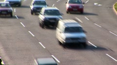 motion blur traffic on highway - stock footage