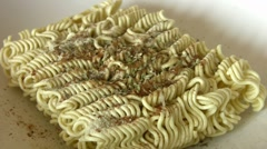 Noodles - stock footage