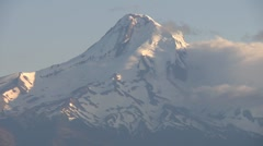 Closeup of Mount Hood in Oregon - stock footage