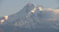 Stock Video Footage of Closeup of Mount Hood in Oregon