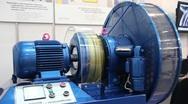 Hydraulically actuated clutch (fluid flywheel) Stock Footage