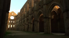 Abbey of San Galgano Stock Footage