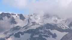 Fumaroles smoking on Mt. St. Helens Stock Footage