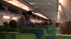 Boarding of a plane Stock Footage