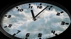 Clock in time lapse sequence loop - stock footage
