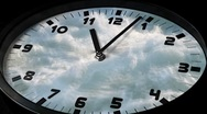 Clock in time lapse sequence loop Stock Footage