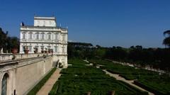 Rome Park villa Doria Pamphilj Maze Labyrinth Stock Footage