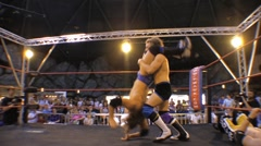 Pro wrestling move - Hurracanrana backflip throw HD - stock footage