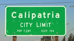 Calipatria CA City Limit Sign - stock footage
