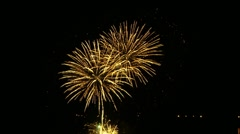Gold fireworks Stock Footage