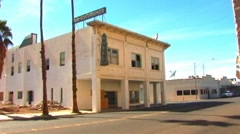 Fire Engine Down Street In Western Border Town Stock Footage