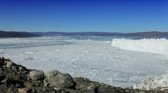 Melting Ice Floes from Glacier Stock Footage
