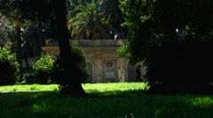 Rome Park Doria Pamphilj Children bicycle Stock Footage