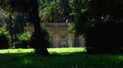 Rome Park Villa Doria Pamphilj ruins Stock Footage
