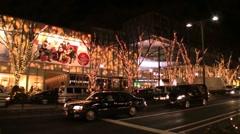 Omote-Sando Hills New Year's  illumination -- Tokyo Time lapse Stock Footage